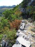 Paklenica National Park. Scenic mountain landscape in beautiful national park Paklenica in Croatia Stock Image