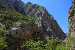 Croatia - Paklenica National Park in the Velebit mountains in northern Dalmatia, near the town of Starigrad. royalty free stock image
