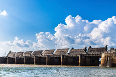 Pakmun hydroelectric dam Royalty Free Stock Images