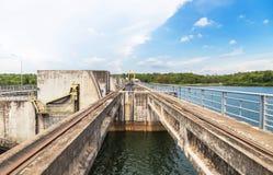 Pakmun hydroelectric dam in ubonratchathani thailand Royalty Free Stock Image