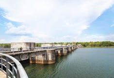 Pakmun hydroelectric dam in ubonratchathani thailand Stock Image