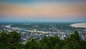 Paknam Chumphon村庄Chumphon,泰国 免版税库存照片