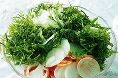 Pako fern or fiddlehead fern salad. Picture of nutritious Pako fern or fiddlehead fern salad Royalty Free Stock Image