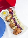 Pakora van de regenboogsandwich Stock Foto's