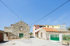 Pakostane, Croatia - Traditional farming houses in the back country of Pakostane royalty free stock photos