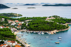 Pakostane in Croazia Fotografia Stock Libera da Diritti