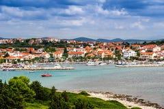 Pakostane i Kroatien Arkivbild
