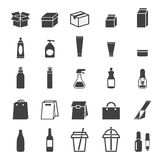 Pakować ikona set Obraz Stock