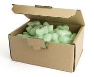 Pakować pudełko z zieleni pianą Zdjęcie Royalty Free