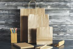 Pakować, rynku i reklamy pojęcie, Obraz Stock
