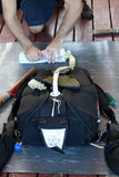 Pakować spadochron Zdjęcie Royalty Free