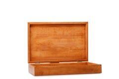 Pakowny drewniany pudełko dla pakować magazyn odizolowywającego na białym tle Zbiornik robić naturalny drewno drewniane pudełko Zdjęcie Royalty Free