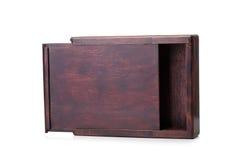 Pakowny drewniany pudełko dla pakować magazyn odizolowywającego na białym tle Zbiornik robić naturalny drewno drewniane pudełko Obrazy Stock