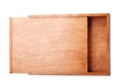 Pakowny drewniany pudełko dla pakować magazyn odizolowywającego na białym tle Zbiornik robić naturalny drewno drewniane pudełko Obrazy Royalty Free