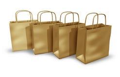 Pakpapier het winkelen zakken Stock Foto's