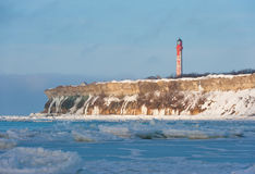 Pakri lighthouse in winter Royalty Free Stock Photography