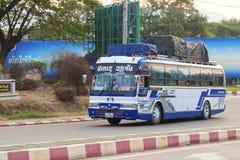Pakse Champasak landskap, Laos 17 mars 2018: Intercity buss fr Arkivbilder