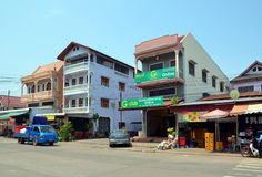 Pakse city in Laos Royalty Free Stock Image