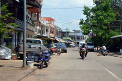 Pakse city in Laos Stock Images