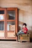 PAKSE LAOS, Augusti 14: Ett oidentifierat Laos pyssammanträde Royaltyfri Fotografi