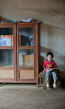 PAKSE LAOS, Augusti 14: Ett oidentifierat Laos pyssammanträde Royaltyfria Bilder