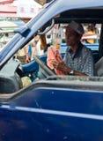 PAKSE LAOS, SIERPIEŃ, - 12: Widok rynek w Pakse mieście jest Zdjęcie Stock