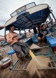 PAKSE LAOS, SIERPIEŃ, - 12: Widok rynek w Pakse mieście jest Zdjęcia Royalty Free