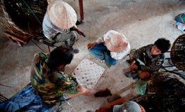 PAKSE LAOS, SIERPIEŃ, - 12: Widok rynek w Pakse mieście jest Obraz Stock