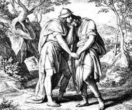 Pakt mellan David & Jonathan arkivbild
