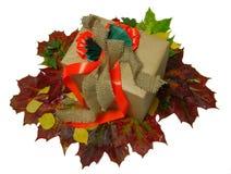 Pakujący w jesień stylu prezencie Obrazy Stock
