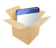 pakująca strona internetowa Fotografia Stock