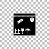 Pakuneczek ikony Pude?kowaty mieszkanie ilustracja wektor