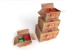 Pakuneczek paczki poczta pudełko Zdjęcia Stock