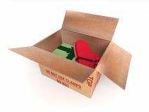 Pakuneczek paczki poczta pudełko Zdjęcie Stock