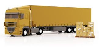 pakuneczków transportów ciężarówka Obraz Stock