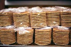 pakunków miodowi gofry Fotografia Stock