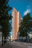 Palácio alaranjado em Rotterdam foto de stock royalty free