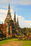 Palácio antigo de Ayutthaya Fotografia de Stock Royalty Free
