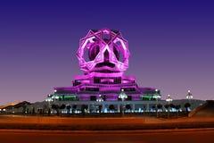 Palácio bonito em um céu noturno como um fundo. Imagem de Stock Royalty Free