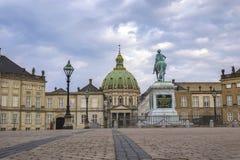 Palácio Copenhaga Dinamarca de Amalienborg Imagem de Stock