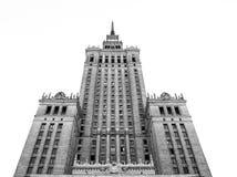Palácio cultural em Varsóvia (Poland) Fotografia de Stock Royalty Free