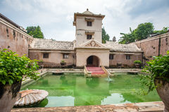 Palácio da água do sari de Taman de Yogyakarta em Java, Indonésia Imagem de Stock
