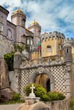 Palácio da贝纳/辛特拉,里斯本/葡萄牙/欧洲architec 免版税库存照片