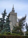 Palácio da cultura e da ciência em Varsóvia, Poland fotos de stock royalty free