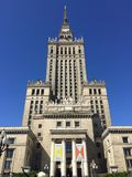 Palácio da cultura e da ciência no Polônia de Varsóvia fotografia de stock royalty free
