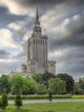Palácio da cultura e da ciência em Varsóvia fotografia de stock