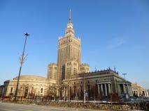 Palácio da cultura e da ciência em Varsóvia Foto de Stock Royalty Free
