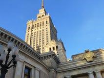 Palácio da cultura e da ciência em Varsóvia Fotografia de Stock Royalty Free
