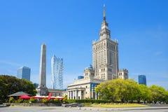 Palácio da cultura e da ciência, Varsóvia, Poland fotografia de stock