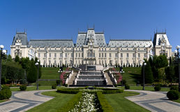 Palácio da cultura em Iasi, Romênia Imagens de Stock